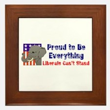 Proud to be everything liberals can't stand Framed