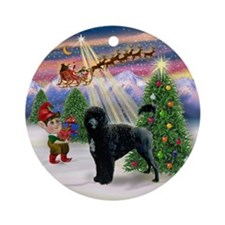 Portuguese Water Dog Xmas Tree Ornament (Round)