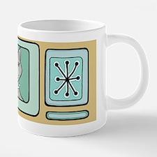 Retro Cat (Gray) 20 oz Ceramic Mega Mug