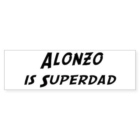 Alonzo is Superdad Bumper Sticker