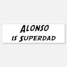 Alonso is Superdad Bumper Bumper Bumper Sticker