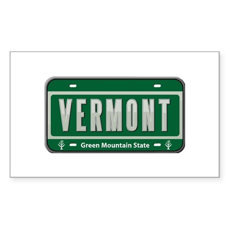 Vermont Plate Rectangle Sticker 50 pk)