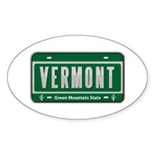 Vermont Plate Oval Decal