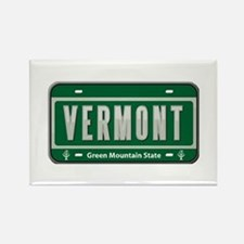 Vermont Plate Rectangle Magnet