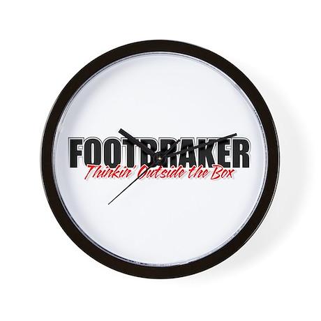 Footbraker: Thinkin' Outside Wall Clock