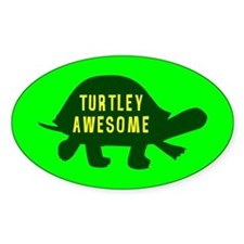 Turtley Awesome Oval Bumper Stickers