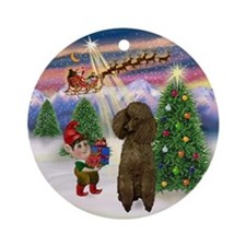 Cute Santa Ornament (Round)