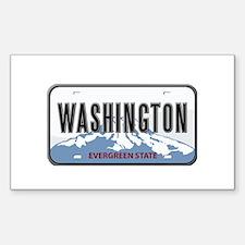 Washington Rectangle Decal
