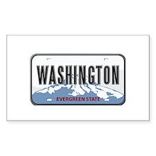 Washington Rectangle Stickers