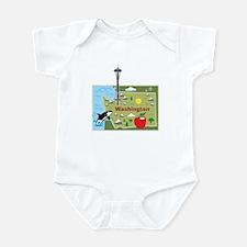 Washington Map Infant Bodysuit