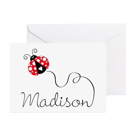 Ladybug Madison Greeting Cards (Pk of 20)