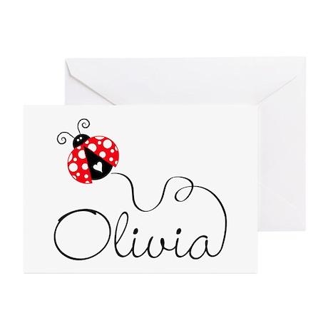 Ladybug Olivia Greeting Cards (Pk of 20)