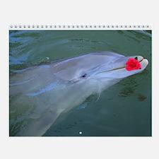 Dolphin 12 Month Wall Calendar