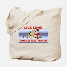 Wrestle Hard Tote Bag