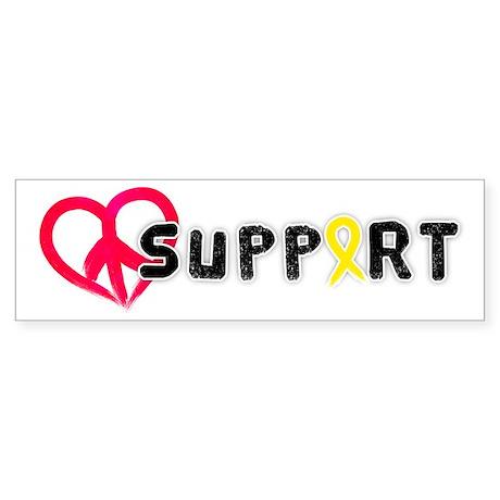 Support (Peace Love) Bumper Sticker