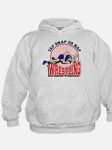 Tap Snap or Nap Wrestling Hoodie
