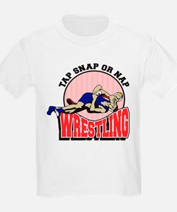Tap Snap or Nap Wrestling T-Shirt