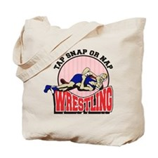 Tap Snap or Nap Wrestling Tote Bag