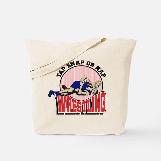 Tap Snap or Nap Wrestling Tote Bag