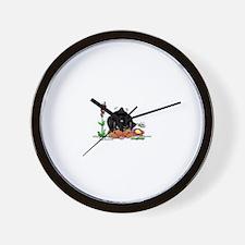 Spring Rottweiler Wall Clock