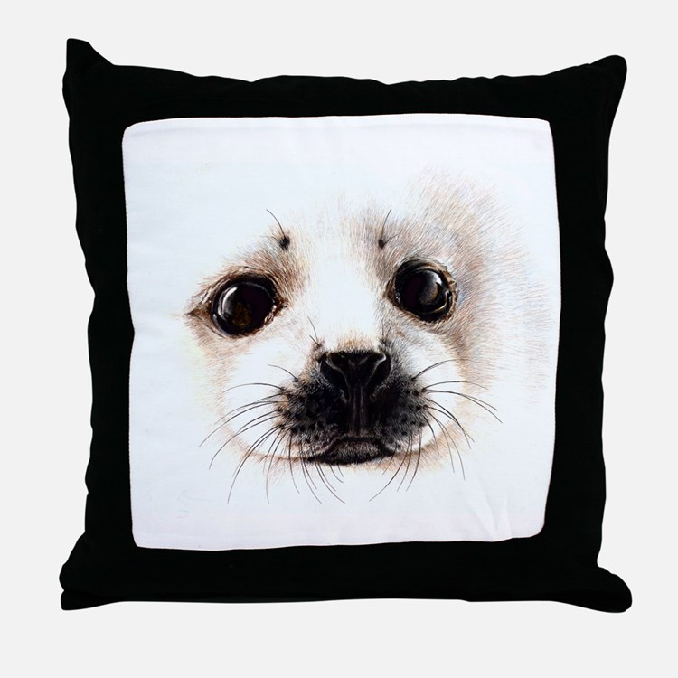 Water Mammals Throw Pillow