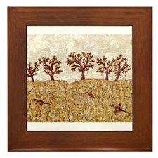 Cute Pheasant hunting Framed Tile