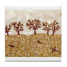 Cute Pheasant hunting Tile Coaster
