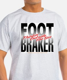 Footbraker: Thinkin' Outside  Ash Grey T-Shirt