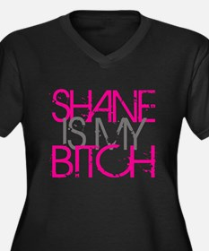 Shane Is My Bitch Women's Plus Size V-Neck Dark T-