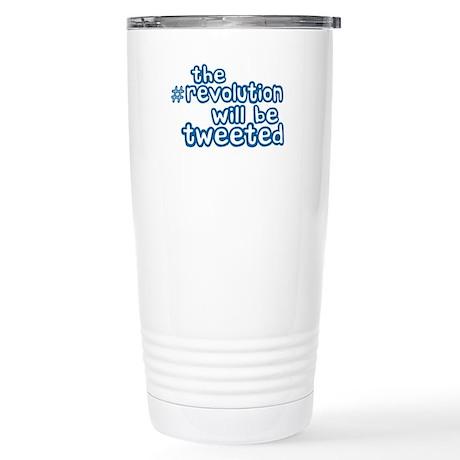 Twitter Revolution Stainless Steel Travel Mug