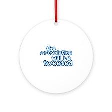 Twitter Revolution Ornament (Round)