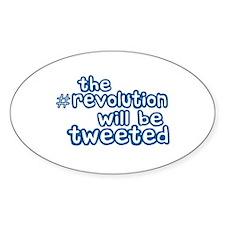 Twitter Revolution Oval Sticker (10 pk)