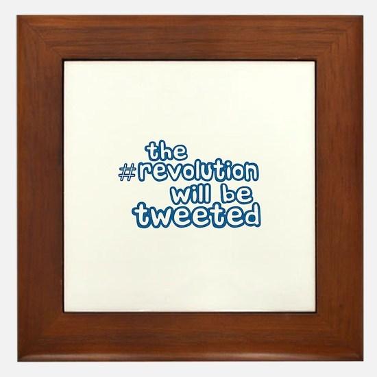 Twitter Revolution Framed Tile