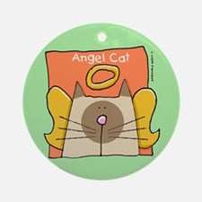 Ragdoll Cat Angel Ornament (Round)