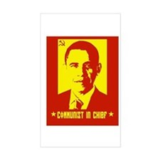 Obama Communist in Chief Rectangle Decal