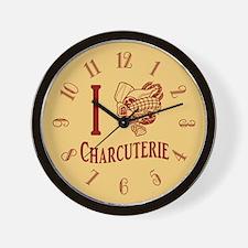 I Love Charcuterie Wall Clock