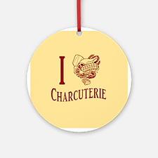 I Love Charcuterie Ornament (Round)