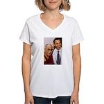 The Art of Happiness Women's V-Neck T-Shirt