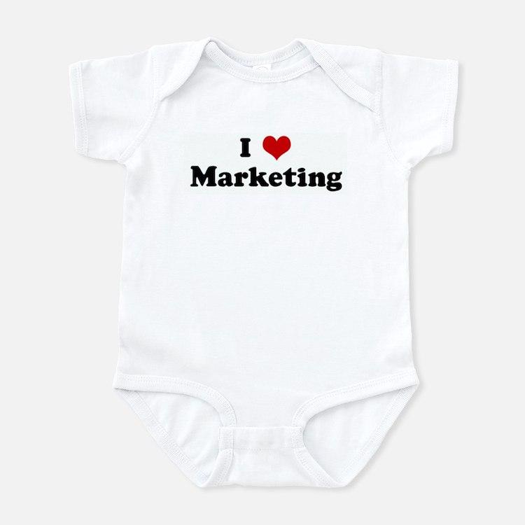 I Love Marketing Infant Bodysuit