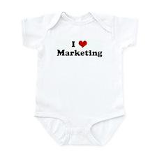 I Love Marketing Onesie