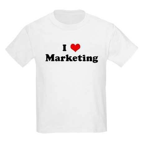 I Love Marketing Kids Light T-Shirt