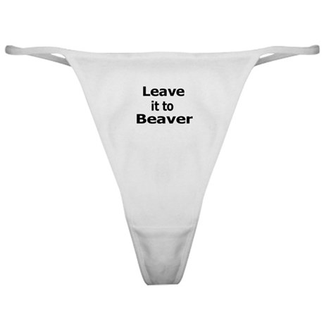 Leave it to Beaver Thong