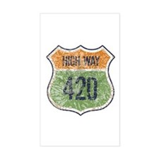 High Way 420 Rectangle Decal