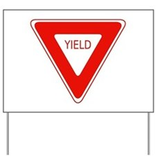 Yield Sign - Street Signs Yard Sign