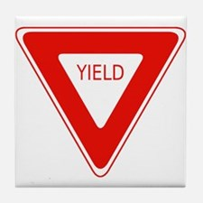 Yield Sign - Street Signs Tile Coaster