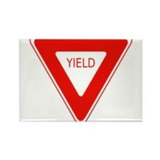 Yield Sign - Street Signs Rectangle Magnet