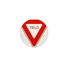 Yield Sign - Street Signs Mini Button