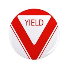 "Yield Sign - Street Signs 3.5"" Button"