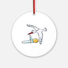 Test Tube Stork Ornament (Round)