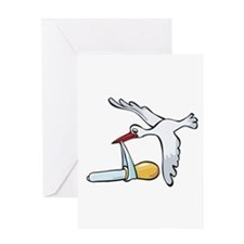 Test Tube Stork Greeting Card